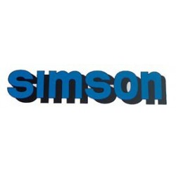 Klebefolie Simson-Tank, blau