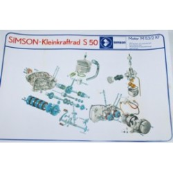 Explosionszeichnung Motor S50