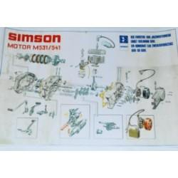 Explosionszeichnung Motor S51