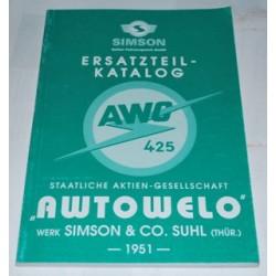 AWO Ersatzteilkatalog 1951
