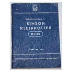 Betriebsanleitung Simson KR50