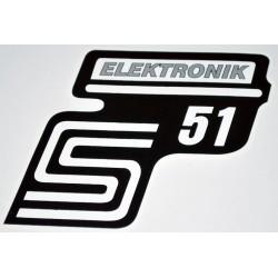 Klebefolie Seitendeckel Elektronik, silber, S51