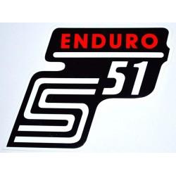 Klebefolie Seitendeckel Enduro, rot, S51