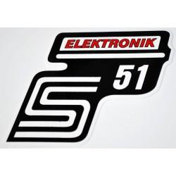 Klebefolie Seitendeckel Elektronik, rot, S51