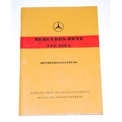 Betriebsanleitung Mercedes-Benz Typ 220S