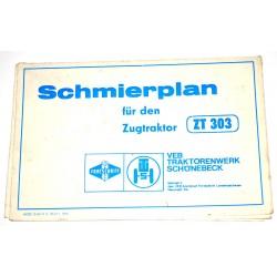 Schmierplan Zugtraktor ZT 300