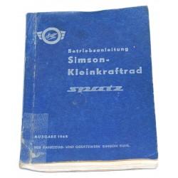 Betriebsanleitung Simson Spatz