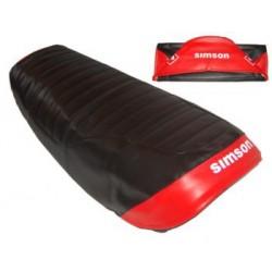 Sitzbankbezug schwarz - rot...