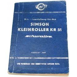 Betriebsanleitung Simson KR51