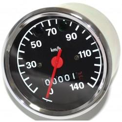 Tachometer ø 80 mm - Kontrollleuchten BLAU + GRÜN - 3.0220/14 - MZ ETZ125, 150, 250, 251/301 (140 km/h)