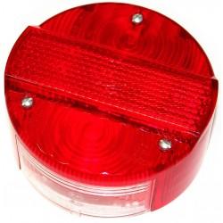 Rücklichtkappe für Bremsschlusskennzeichenleuchte BSKL, ø 120mm - rot - 3 Schrauben - Lichtaustritt 8522.21-200