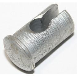 Lötnippelaufnahmen, geschlitzt, für Bowdenzüge, Seilzüge - Höhe 15,5mm