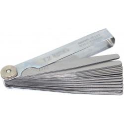 Präzisions-Fühlerlehren, 20 Blatt - 0-05-1,00 mm- je 0,05 mm-Schritte