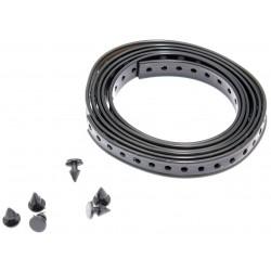 Kabelbandset schwarz in 1,0 Meter lang Kabelband und 6 Kabelbandknöpfe ES, ETS, TS, ETZ
